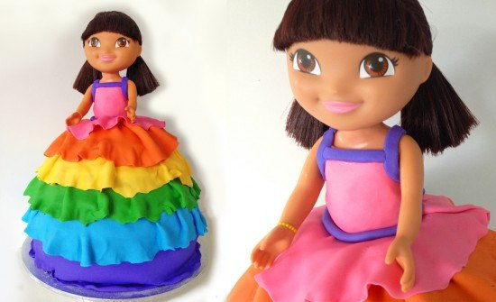 Dora cake decorating lesson by how to cook that