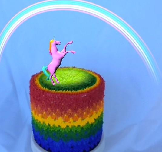 Howtocookthat Cakes Dessert Chocolate Rainbow Unicorn Cake