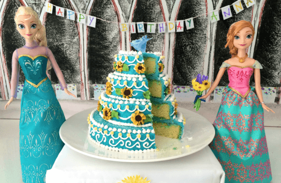 Mini Frozen Fever Cake with video tutorial