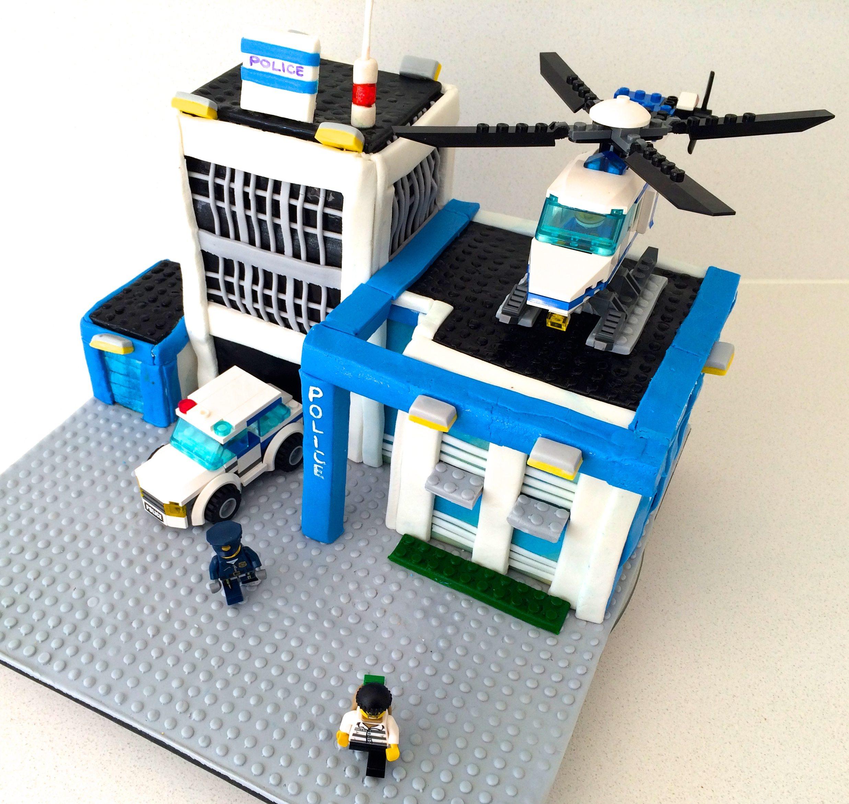 lego city cake howtocookthat - Lgo City Police