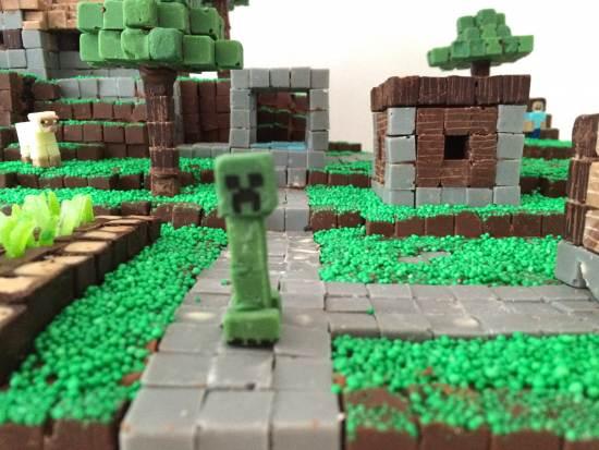 minecraft village plans cake