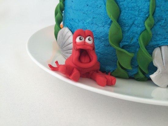 ariel little mermaid cake tutorial