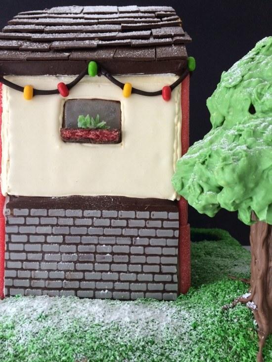 gingerbread house chocolate bricks reardon