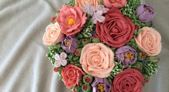 buttercream flower cake ann reardon howtocookthat
