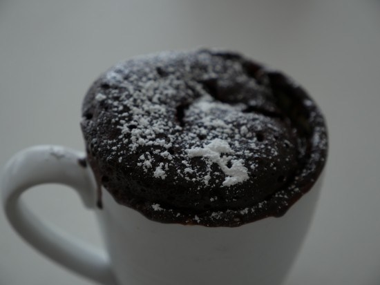 nutella cake in a cup easy