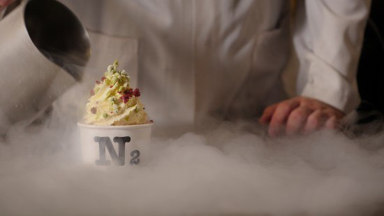Image result for liquid nitrogen ice cream