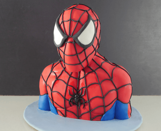 Howtocookthat cakes dessert chocolate 3d spiderman for Spiderman template for cake