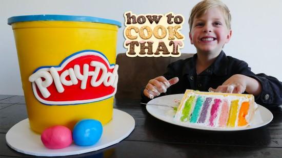 play doh cake recipe kids birthday easy