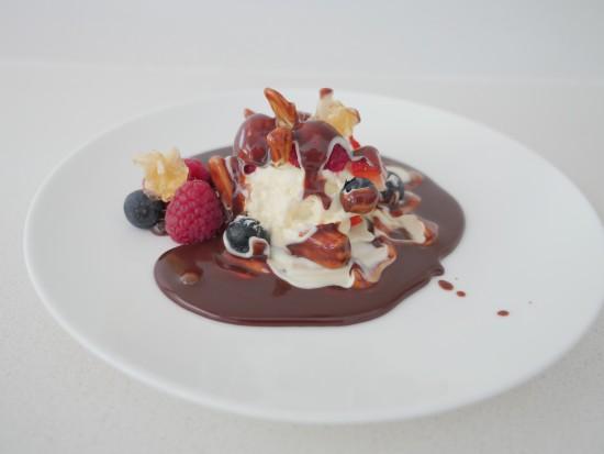 white chocolate ball sphere dessert