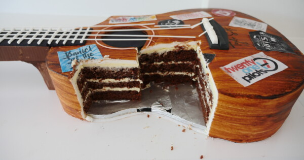 How To Bake And Decorate A Guitar Cake