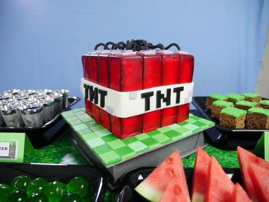 minecraft tnt cake howtocookthat