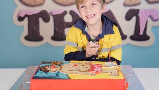 cake decorating ollie tutorial by ann reardon
