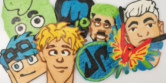 top youtubers pancake art