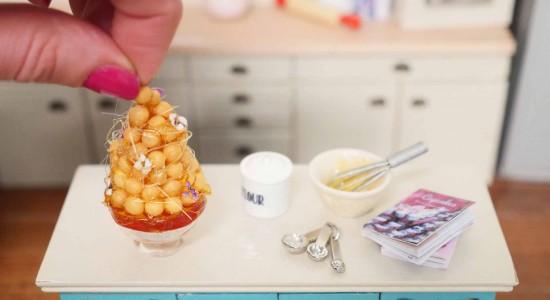 miniature baking 1/12 scale food