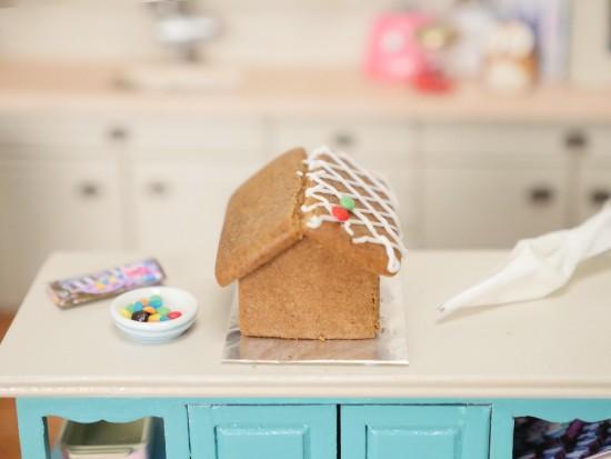 miniature gingerbread house recipe