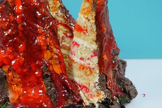 erupting volcano cake ann reardon