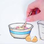 muffin recipe animation