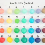 chart of fondant colors