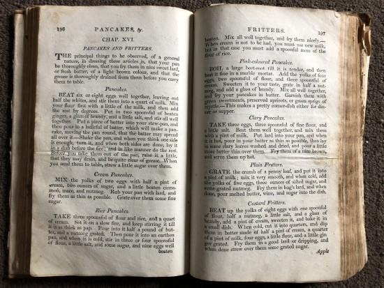 1800's cookbook
