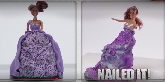 nailed it princess doll cake
