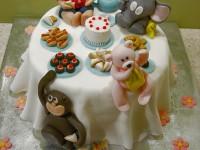 fondant cake decorations first birthday cake ideas monkey teddy elephant