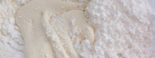 mix icing sugar in to melted marchmallows to make fondant