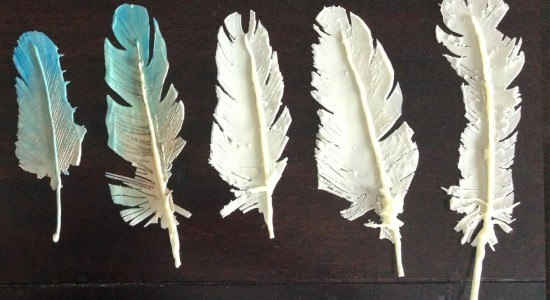 chocolate feathers cake topper decoration