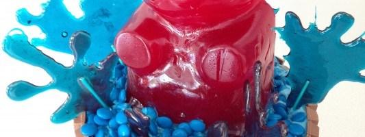 ginat gummy bear kit kat m&m cake