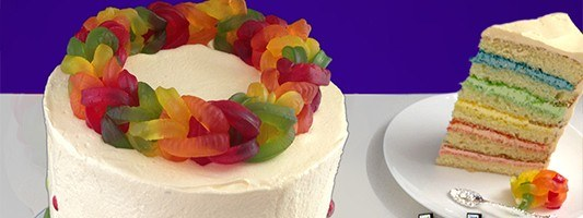 Rainbow Loom Band Cake