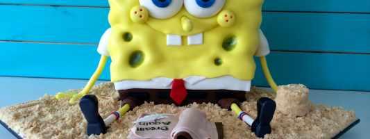 sponge bob cake video tutorial howtocookthat