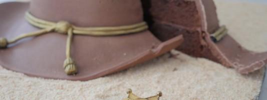 The Walking Dead sheriff's hat cake
