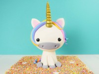3D unicorn cake tutorial