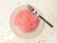 pink cotton candy make at home