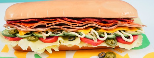 subway sandwich cake