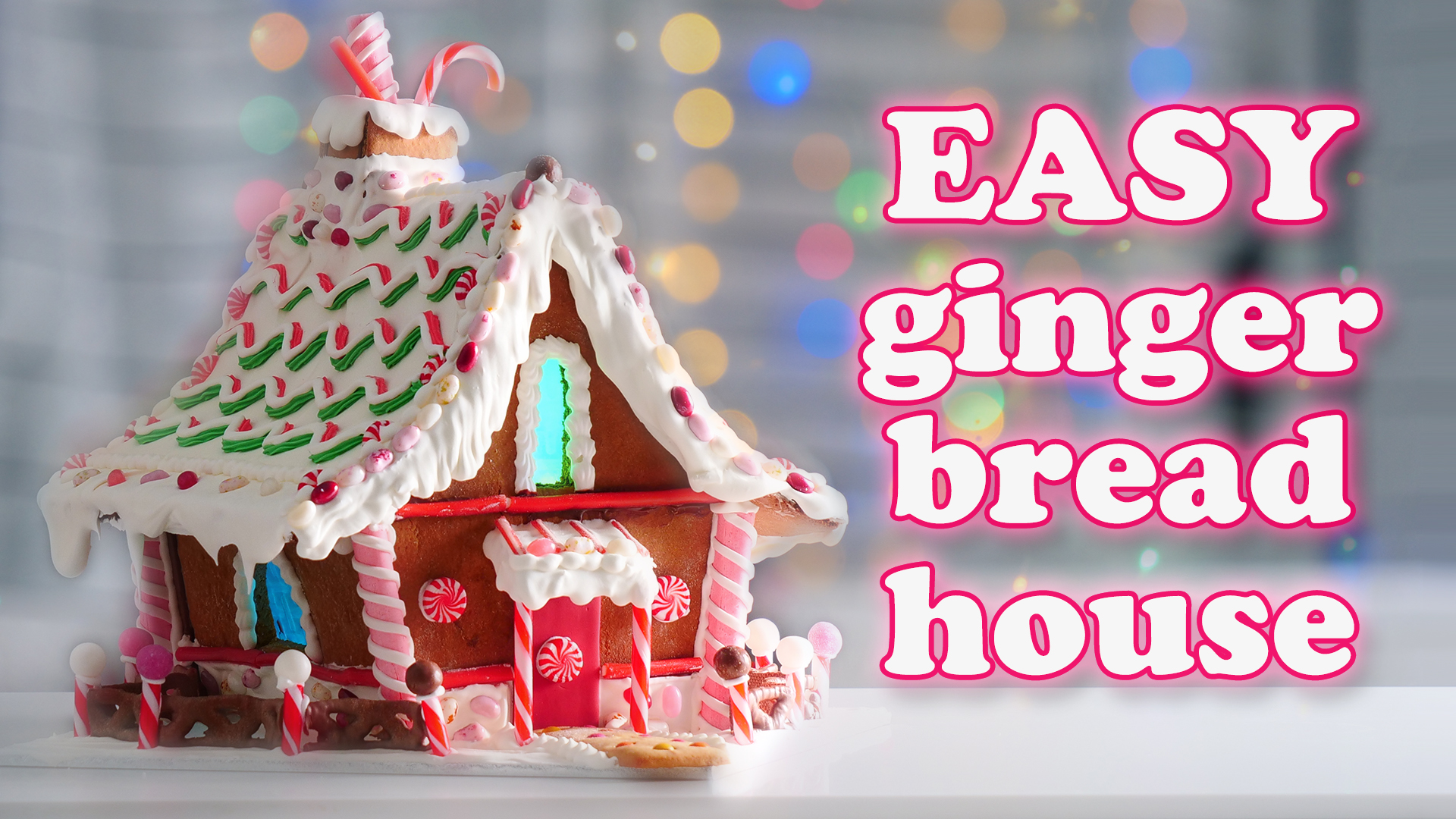 Easy Gingerbread House Tutorial