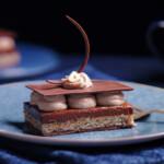 hazelnut chocolate slice dessert cookbook